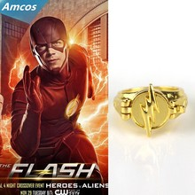 TV Series The Flash Reverse Flash Finger Rings Gold Plated Cosplay Props Gift Collectibles Halloween with lidJewelry Accessories(China)
