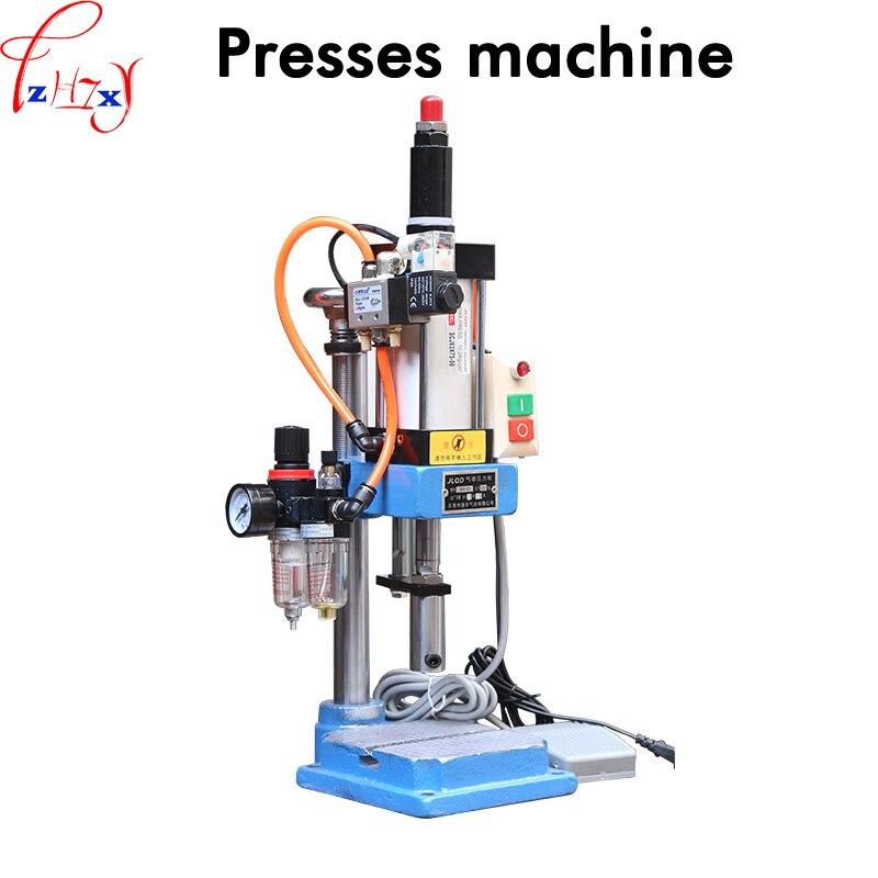 1 pc Unique colonne pneumatique presse JNA63 pneumatique poinçonnage machine petit réglable force 200 KG pneumatique poinçon