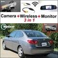 3 in1 Especial Câmera de Visão Traseira Sem Fio + Receptor + Espelho Sistema de Monitor de Estacionamento de Backup Para Hyundai Elantra XD Inokom HD MD UD