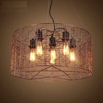 Nordic Loft Style Vintage Pendant Light Fixtures Edison Industrial Lighting For Dining Room Indoor Retro Iron Mesh DropLight nordic bamboo rope loft style vintage industrial lighting wood pendant light fixtures edison homeing lighting lamparas