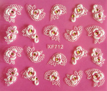 Direct continental carved three-dimensional nail stickers nail sticker nail art stickers 3D nail stickers XF712
