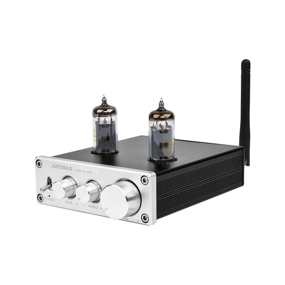 AIYIMA 6K4 Amplificador Do Tubo de Vácuo Amplificador Bluetooth 5.0 Preamp AMP Com Graves Agudos Ajuste do Tom De Som de Cinema Em Casa