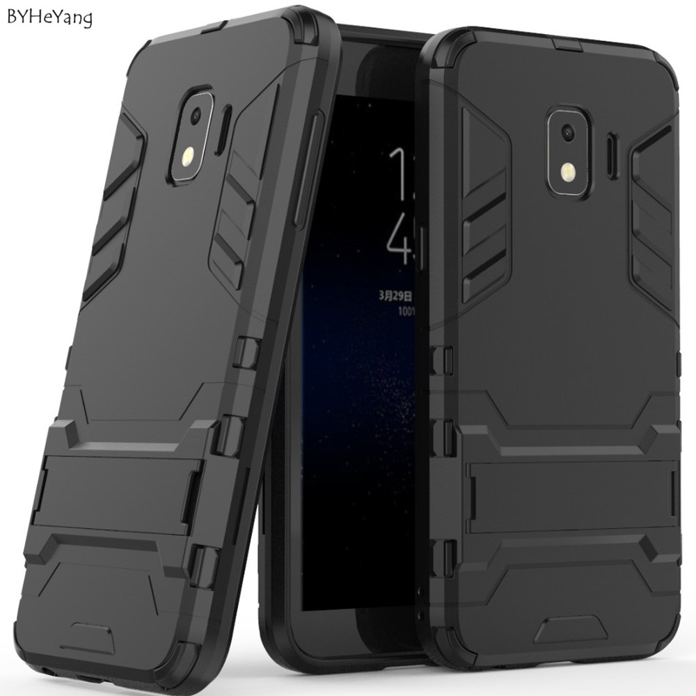 BYHeYang For Samsung Galaxy J2 Core Case PC+Silicone Armor Shock Proof 3D Shield Case For Samsung J2core SM-J260 J260f Bumper