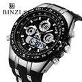 BINZI Brand Sport Watch Men's Black design Wrist Watch Big Dial Military Digital Waterproof Outdoor Wristwatch Relogio Masculino