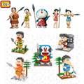 LOZ Doraemon Noby Sneech Shizuka Big G Primitive Man Action Figure Diamond Blocks Toy For Ages 14+ Offical Authorized