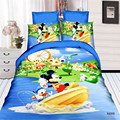 Cartoon Home textile 3d mickey boys twin/single size bedding set of duvet cover bed sheet pillow case 2/3pcs bed linen sets