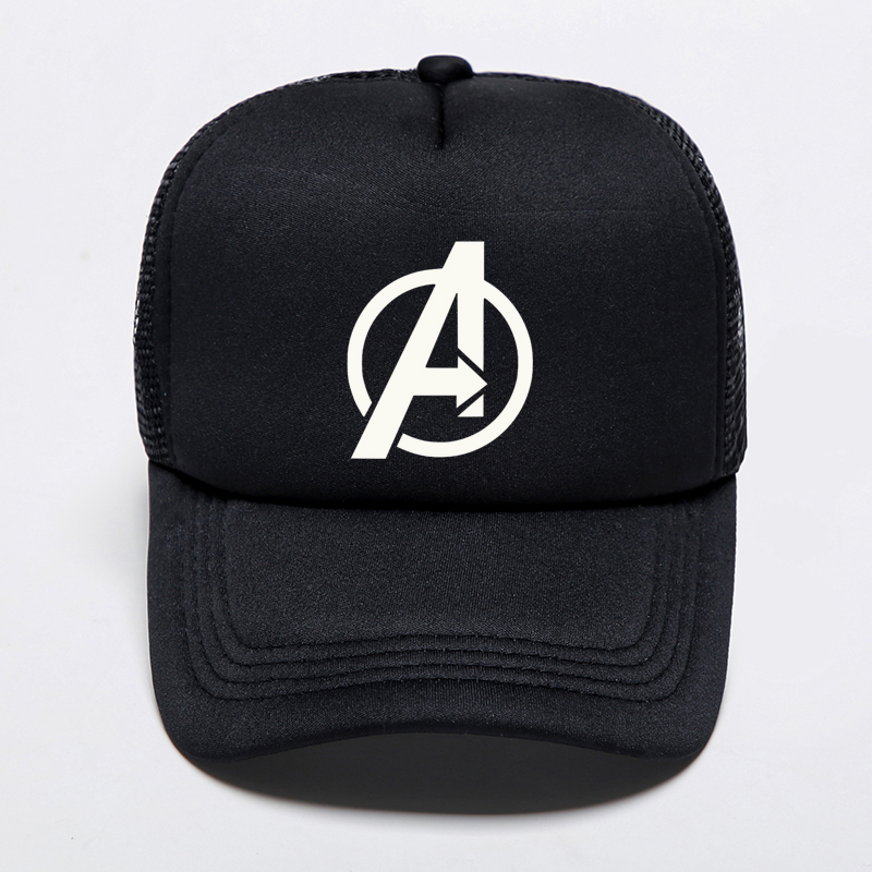 Summer Mesh Snapback Trucker Dad's   Cap   Printed Avengers   Baseball     Cap   Marvel Captain America Super Hat Adjustable   Cap