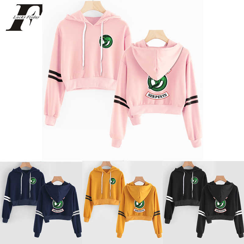 RIVERDALE sweatshirt hoodie Women men sexy crop top hoodies harajuku summer south side serpents RIVERDALE clothes plus size
