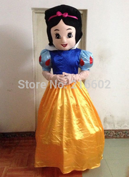 High quality Snow White Mascot Costume Adult Size Cinderella Mascot costume