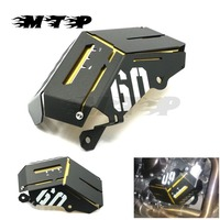 MT09 FZ09 Motorcycle Radiator Water Coolant Reservoir Tank Guard Protection Grill Side Cover For Yamaha FZ