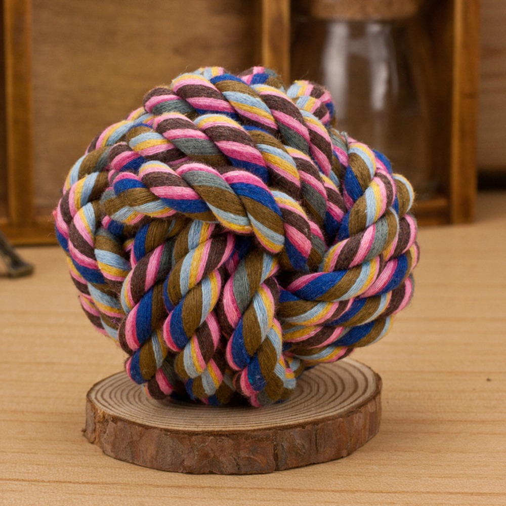 Toys For Biting : Rope ball bite toy for dogs