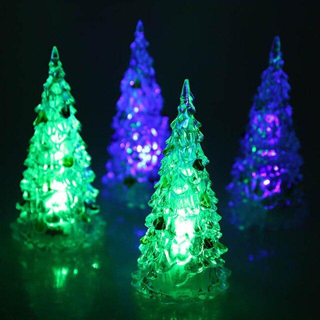 kerstboom ornamenten holiday festival best gift rgb kleurrijke led kerstboom verlichting kerst decoratie met nachtlampje