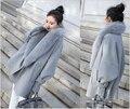 2016 de Las Mujeres gran capullo de tipo cape capa de la Manera larga sección de la coatautumn e invierno versión Coreana de la Capa