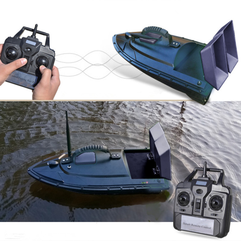 500M Remote Control RC Fishing bait Boat Fish Finder 2kg Loading 2pcs Tanks with Double Motors