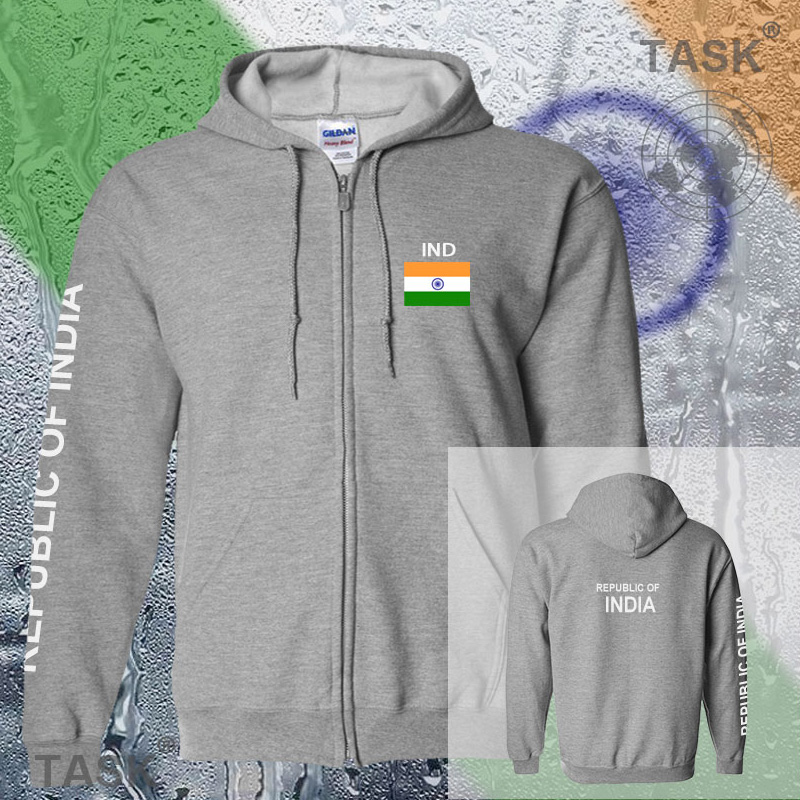 India IND Indian mens hoodies and sweatshirt off white jerseys polo sweat  new streetwear tracksuit nations fleece zipper flags d3cf9829ca4c