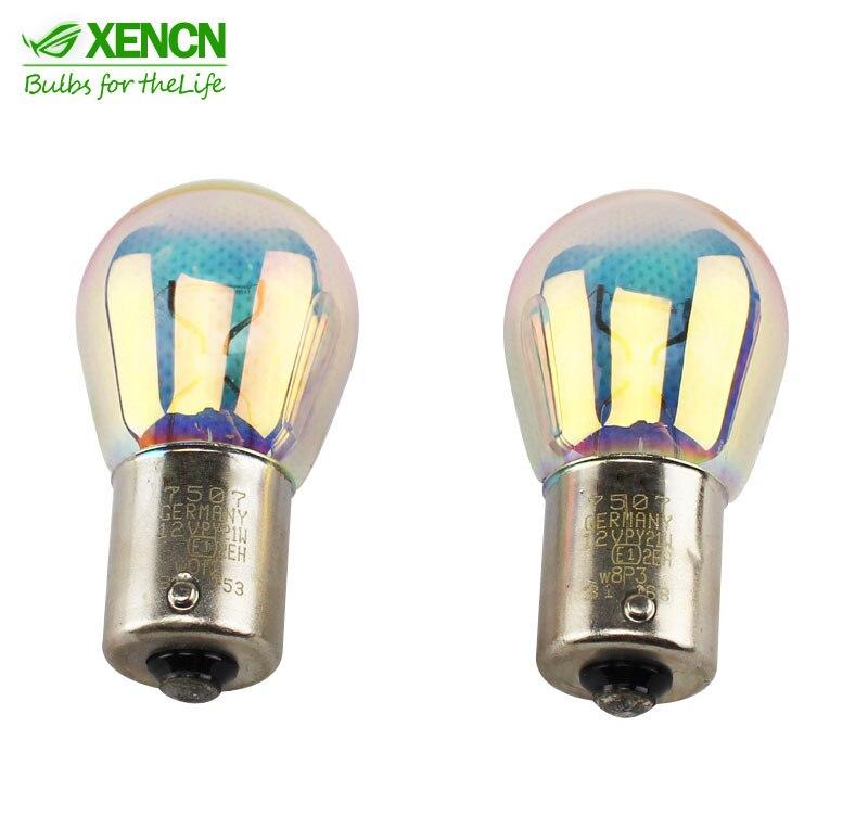 XENCN s25 обратные PY21W 12В 21ВТ BAU15s автомобиля сигнальные огни авто мин Лампа стоп-сигнал Упаковка ламп 2шт