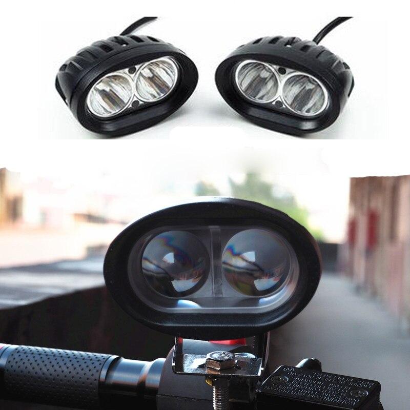 Motowolf 12 В-72 В 20 Вт Светодиодные пятно света Мотоцикл ATV Лодка Off Road Водонепроницаемый фар с коммутатором и кронштейн для Honda Yamaha