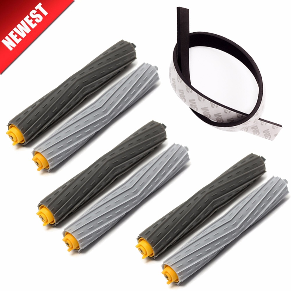 3set Brush+1Pcs Plastic Bump strip kit for iRobot Roomba 800 900 Series 870 880 980 Vacuum Cleaner robot Parts no filter hepa ntnt free post shipping 6 pcs hepa filter parts kit for irobot roomba 800 series 870 880 vacuum cleaner