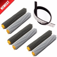 3set Brush+1Pcs Plastic Bump strip kit for iRobot Roomba 800 900 Series 870 880 980 Vacuum Cleaner robot Parts no filter hepa все цены