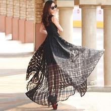 2017 New Arrival High Quality Organza Jacquard Embroidery Ultra long  One-piece dress Plus Zize Slim Dress W38 57a6e342e463