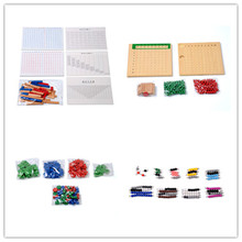 Bebé de Juguete Montessori Cuentas Bordo Suma Resta Multiplicación División Tira Sello Juego de Matemáticas Perlas Brinquedos juguetes