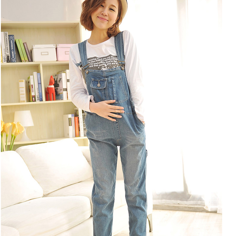 Summer Blue Denim Jumpsuits For Pregnant Women Maternity High Waist Suspender Jeans Overalls Pregnancy Rompers Pants Plus Size