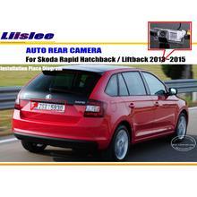 Tylna kamera samochodowa do Skoda Rapid Hatchback Liftback 2013-2015 kamera cofania tanie tanio Liislee CN (pochodzenie) Plastikowe + Szkło Drutu Pojazd backup kamery Z tworzywa sztucznego