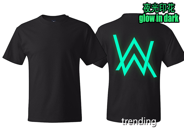 f287219d4 Cotton Men women glow in dark reflective street wear Faded Alan Walker T  Shirts Tee Shirts street wear top t-shirts
