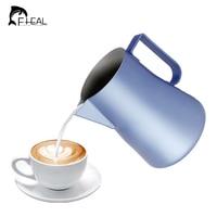 FHEAL 1pc Coffee Jug Coating Stainless Steel Espresso Milk Coffee Frothing Pitcher Barista Tools Craft Coffee Latte Milk Mug