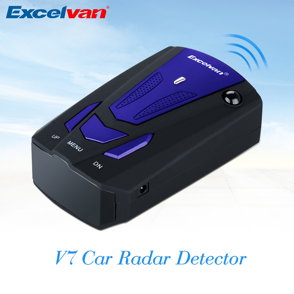 Excelvan V7 Car Radar Detector 360 Degree Anti Police Full 16LED Band Speed Safety Scanning Advanced Voice Alert Warning