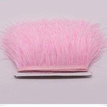 10-15 см Страусиная отделка бахромой с пером с атласной лентой ленты, костюмы украшения, страусиные волосы перо отделка
