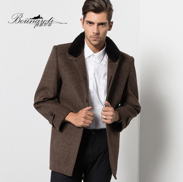 Hommes Mode D'hiver De Manteaux Nouvelle Marque Bounaroti Laine B8w1R7q