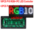 Outdoor DIY LED Display 18PCS P10 Outdoor Full Color LED Module 320*160mm+1PC LED controller+2PCS LED power supply Free Shipping