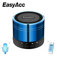EasyAcc Mini Bluetooth Speaker with Microphone Portable Rechargeable Micro SD Card USB Sticks FM Radio Function