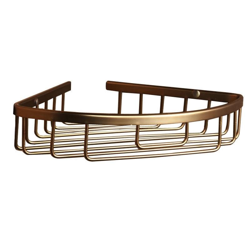 1 Tier Corner Shower Storage Aluminum Bath Shelves basket Racks ...