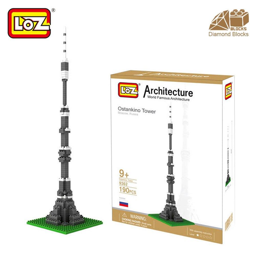 Mr.Froger LOZ Ostankino Tower Diamond Block Världsberömda arkitektur serie Toy Bricks Building Blocks Classic Toy City Cube