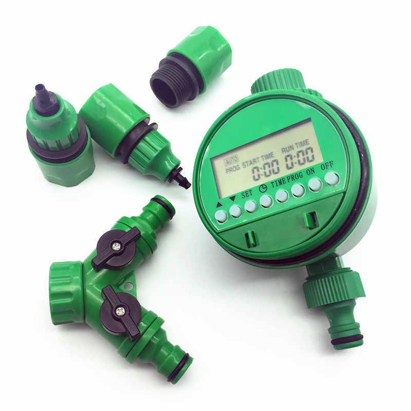 1 セット (5 個) 自動灌漑散水デジタルタイマー Y コネクタ 3/4 外部 threadquick コネクタ 4/7 または 8/11 ミリメートルホース