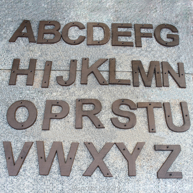 big size cast iron address letters house letter heavy duty metal house numbers and letters