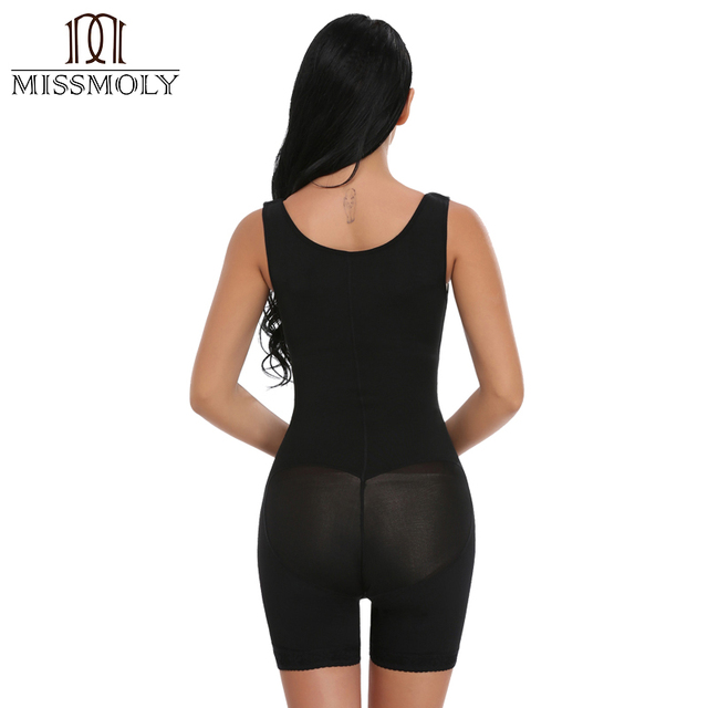 Miss Moly Seamless Traceless Butt Lifter Women Shaper Slimming Bodysuit Girdle High Quality Black Size S-3XL
