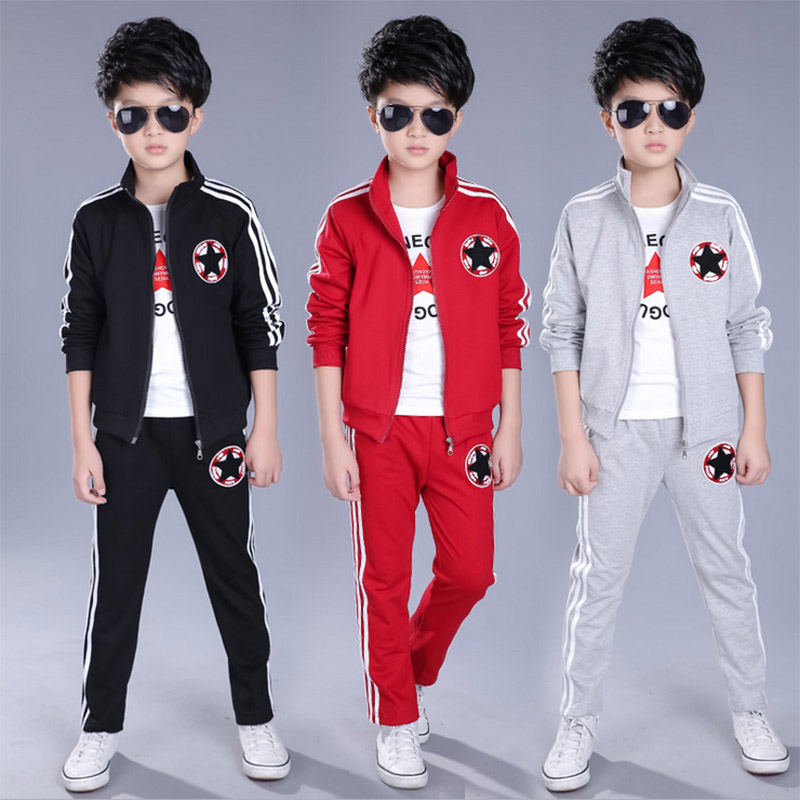 0825302d4 sport wear for boys clothing sport suit Kids Clothing Sets Fall Cotton Boys  Clothes Primary and middle school students clothes -in Clothing Sets from  Mother ...