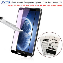 Toughened glass film For Huawei Honor 7X Screen Protector for smartphone Honor 7 X 9H Tempered Protective Film Retail packing nillkin h toughened glass screen film plat edge for huawei honor 4x