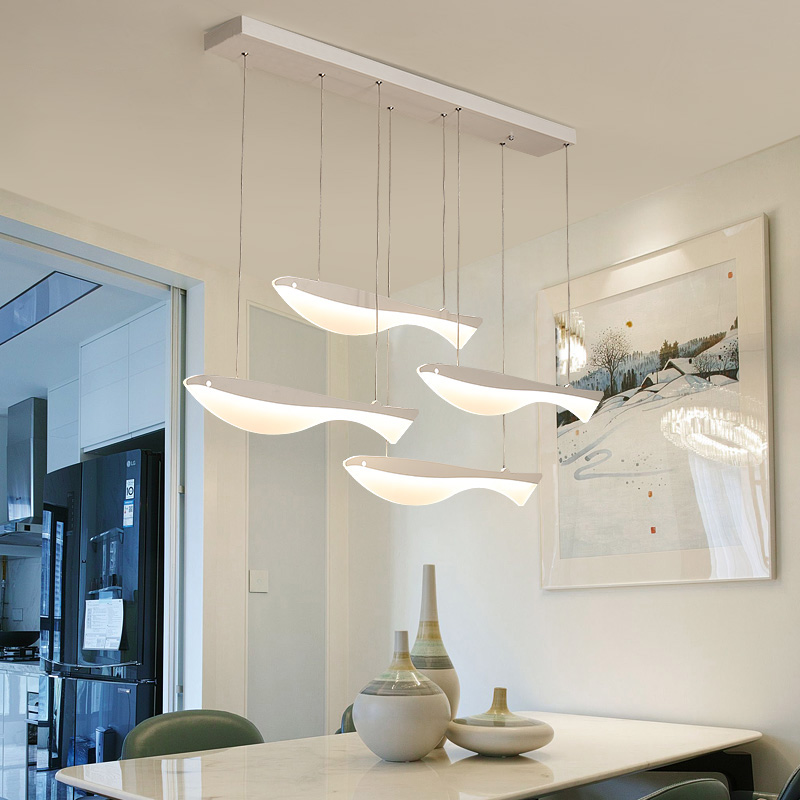 Modern led Pendant lights lampada led restaurant hotel hall Lifelike fish light up happy life led strip acrylic pendant lamp modern led acrylic ceiling lights for parlor lampada led hotel hall led strip acrylic led strip indoor lighting luz de techo