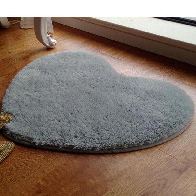 Hause Kleine Teppich Herz Flauschigen Anti Skid Teppich Wohnzimmer