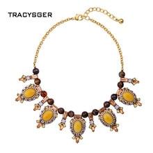 NR-xl01511a/TRACYSGER/sweet girl joyería/accesorios de moda retro crystal gem Collar de la señora