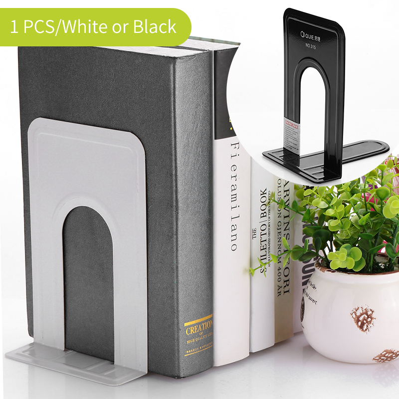 1/2pcs Bookends Height 19cm Book End Stationary Neat Bookend Brand New Anti-skid Bookends Book Ends Shelf Holder Iron Book Stand