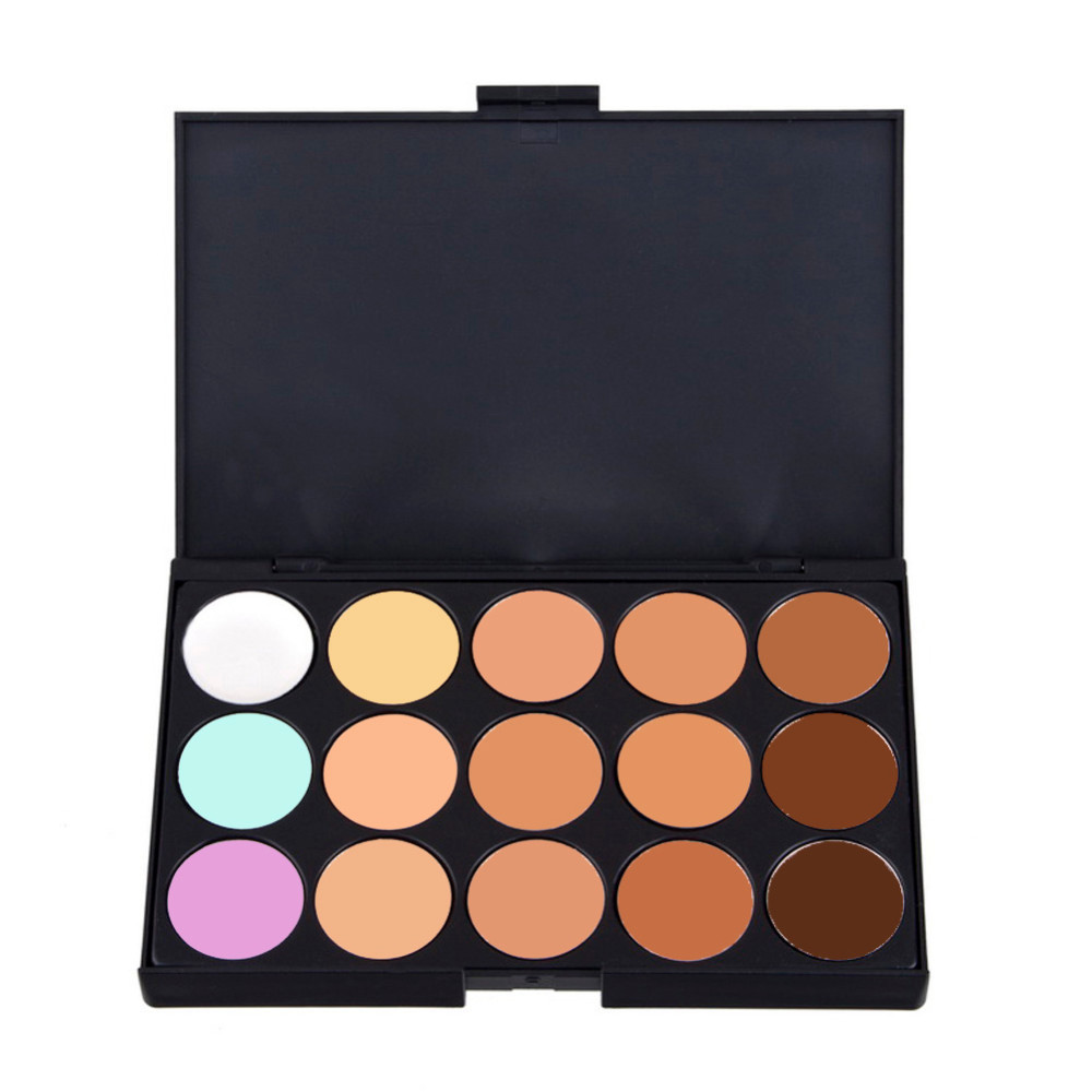 Professional Concealer Palette 15 Color Concealer Facial Face Cream Care Camouflage Makeup base Palettes Cosmetic #C15 image