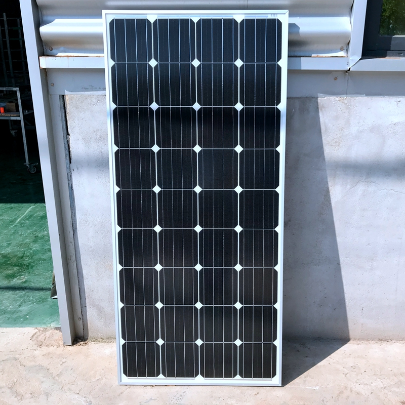 Aluminum Frame 20V 100 Watts Solar Module with Glass laminate Monocrystalline silicon 36pcs Cells 100w Solar Power Station