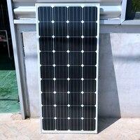 Cadre en aluminium 20 V 100 Watts Solaire Module avec Verre stratifié Monocristallin de silicium 36 pcs Cellules 100 w Solaire Puissance Station