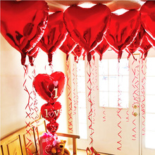 50pcs/lot 18 Inch Heart Love Pentagram Wedding Foil Balloon Happy Birthday Party Photo Decorations Kids Toy Baby Shower Supplies