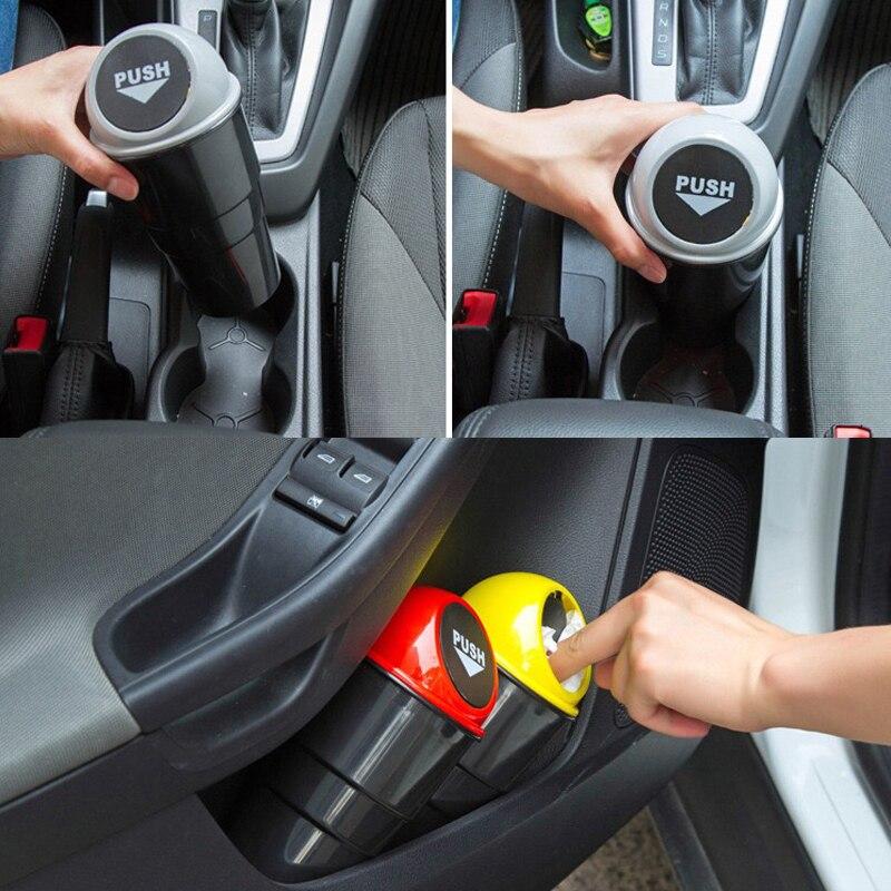POSSBAY Car Plastic Trash Can Mini Cars Eco-Friendly Kitchen Worktop Waste Bins Rubbish Trash Bucket Home Cleaning Tools